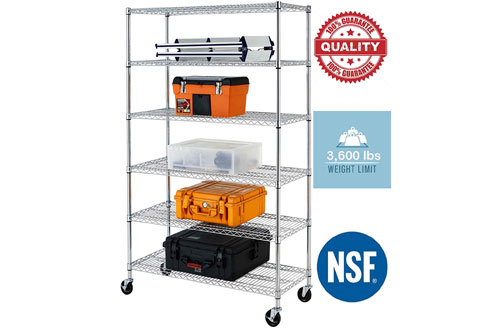 Chrome Commercial Heavy Duty 6 Layer/Tire Storage Rack