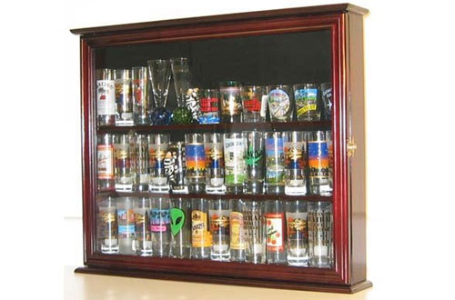Souvenir Hard Rock Shot Glass & Tall Shooter Display Case
