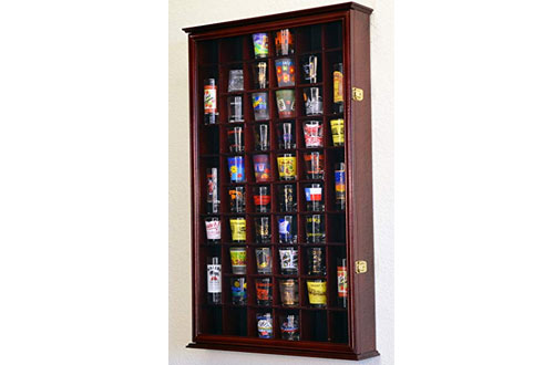 54 Shot Glass Shooter Display Case Holder Cabinet Wall