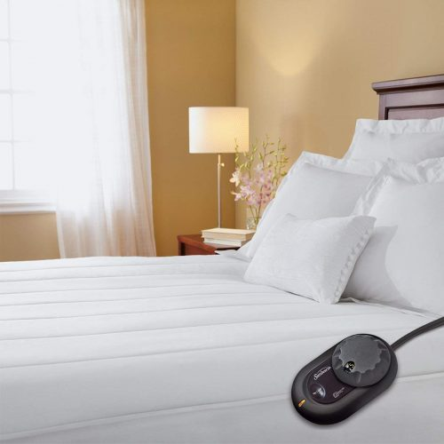 Sunbeam Quilted Heated Mattress Pad with SimpliTouch Pro Controller, Twin