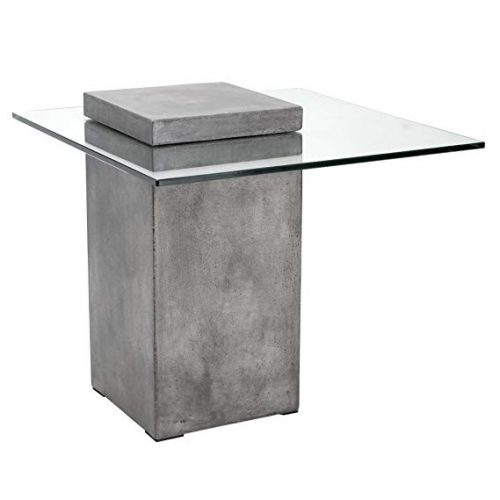 Sunpan-Modern-47902-Grange-Anthracite GLASS TOP DESK