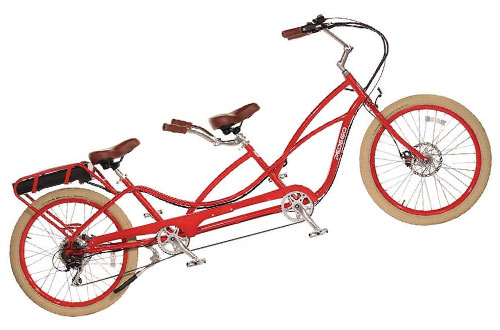 Pedego Tandem Red with Crème Balloon Package 48V 15Ah