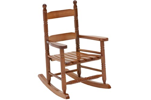 Jack-Post KN-10N Classic Child's Porch Rocker Natural Laquer Oak