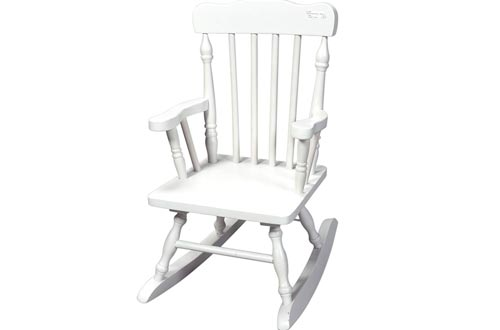 Gift Mark Child's Colonial Rocking Chair, White