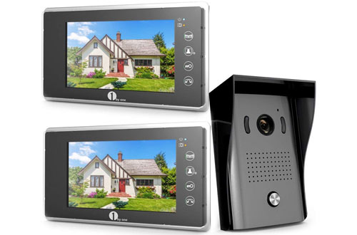 Video Doorbell Kit, 7-inch Color Monitors and Surface Mounted HD Camera Video