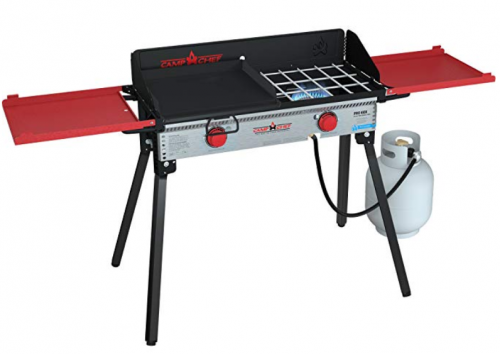 Camp Chef PRO60X Two-Burner Camp Stove with Professional SG30 Griddle
