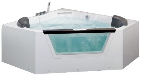 Ariel AM156JDTSZ Bath Whirlpool Tub, 2-Person Pentagon Corner Hot Tubs and Spas