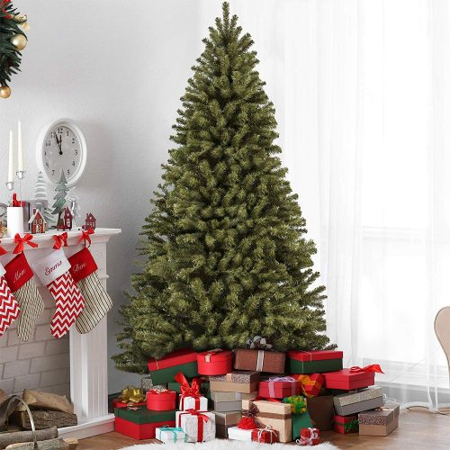 Best Choice Products Premium Spruce Hinged Artificial Christmas Trees
