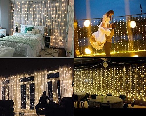 Brightown String lights Window Curtain - The Digital Christmas Lights for Window