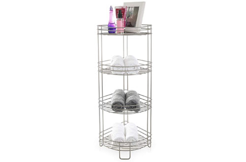 BINO 'Monaco' Rust-Resistant 4-Tier Corner Spa Tower, Nickel