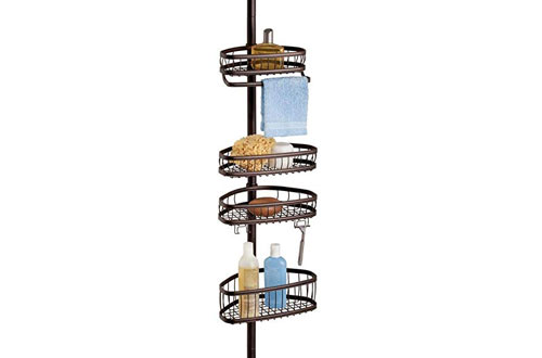 York Constant Tension Shower Caddy – Bathroom Storage Shelves for Shampoo