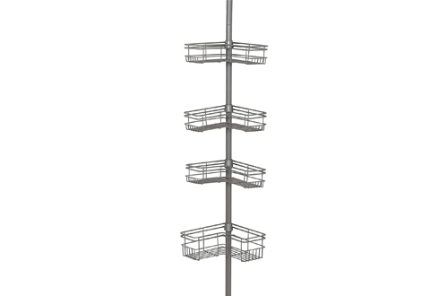 Zenna Home 2130NN, Tension Corner Pole Caddy