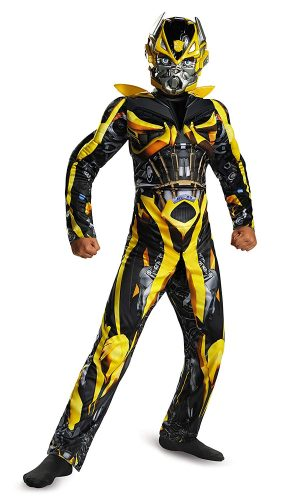 Disguise Hasbro Transformers Age of Extinction Movie Bumblebee Classic Muscle Boys Costume, Medium 7-8