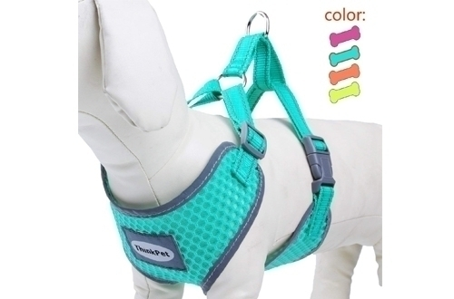 ThinkPet Reflective Breathable Soft Air Mesh Puppy Dog Vest Harness