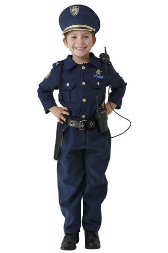 Dress Up America Deluxe Police Dress Up Costume Set - Includes Shirt, Pants, Hat, Belt, Whistle, Gun Holster and Walkie Talkie (Small)