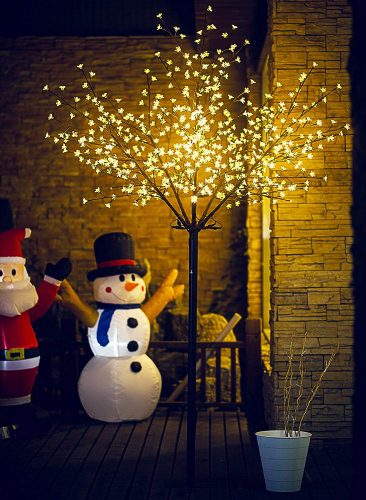 Fashionlite 8FT 600 LED Cherry Blossom Flower Tree Light Decoration for Home, Party, Festival, Christmas & Indoor Use