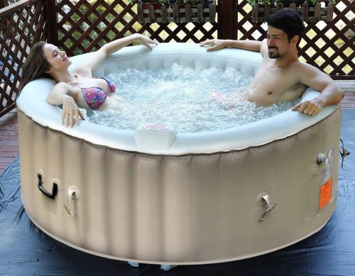 Goplus Outdoor Spa Inflatable Hot Tubs and Spas