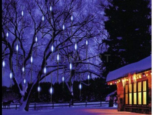 Homego OME Meteor Rain Lights for Christmas, A Wonderful Snowfall LED Christmas Lights Tube