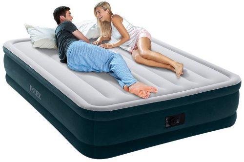 Intex Dura-Beam Series Elevated Comfort Airbed, Air Mattress with Built-in Electric Pump