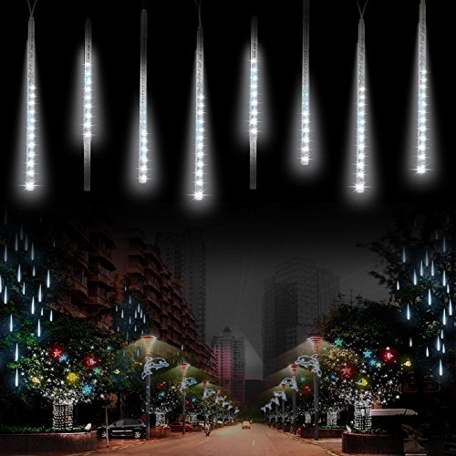 Komake Rain Drop Meteor Lights, Snowfall LED Christmas Lights Beauty
