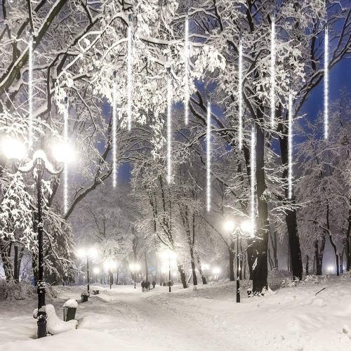 LEDJump 20 Inches Snowfall Meteor Shower, Snowfall LED Christmas Lights Decoration