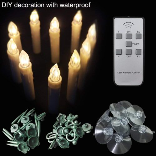 Lap robing Indoor and Outdoor LED Window Flameless Taper Candles Flickering Electric TeaLights