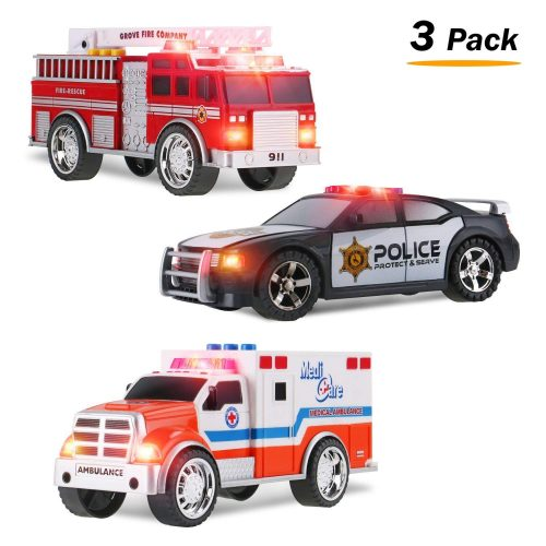 Liberty Imports 3-in-1 Play Set- the Complete Package Police Car Toy