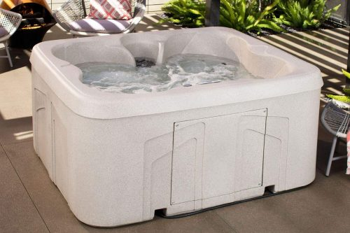 Lifesmart Rock Solid Simplicity Plug and Play 4-Person Hot Tub Spa