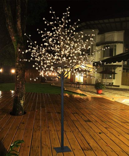 Lightshare 8Ft 600L LED Cherry Blossom City Tree, Home Garden&City Decoration