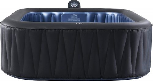 M-SPA MSPA Tekapo Relaxation and Hydrotherapy 6 Person Square Inflatable Portable Hot Tub Bubble