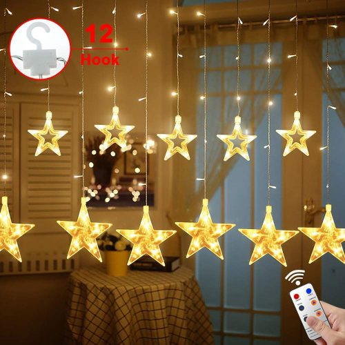 MaLivent Star Curtain Lights - A Charming Christmas Lights for Window