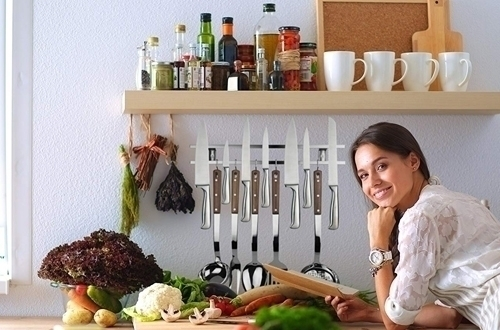Stainless Steel Magnetic Knife Holder & Space-Saving Strip for Kitchen
