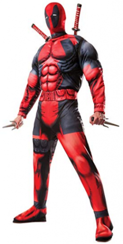 Marvel Rubie's Men's Universe Classic Muscle Chest Deadpool Costume