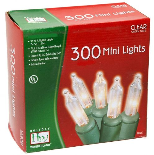 Noma/Inliten 48150-88 Holiday Wonderland Clear Green Wire Christmas Mini Light Set: Highly Recommended