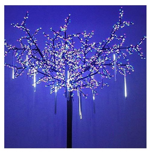 OMGAI Cool White LED Meteor Snowfall Christmas Lights