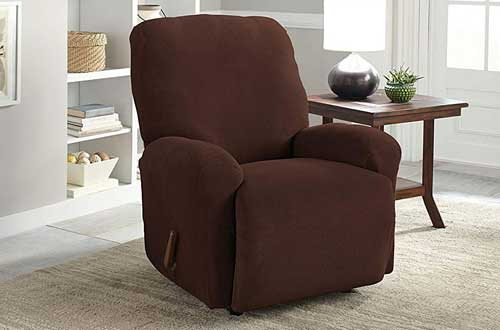 Serta 4 Piece Stretch Grid Recliner Slipcover