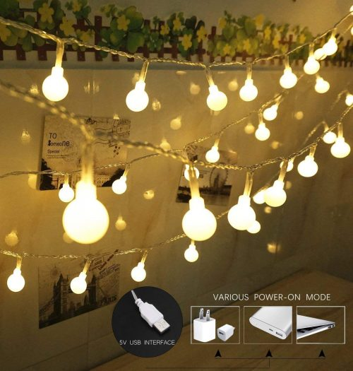 SPIRITUP100 LED Globe String Lights, Ball Christmas Lights, Indoor/Outdoor Decorative Light: The Perfect Choice for Romantic Night!