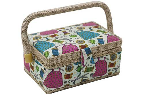 D&D Small Sewing Basket with Sewing Kit Accessories