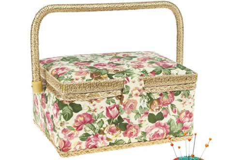 Large Sewing Basket with Accessories Sewing Storage