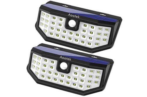 New Upgraded 36 LED Solar Lights with Wide Angle Illumination