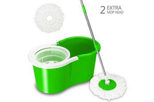 Valuebox Spin Bucket System Mop with Extended Length Handle
