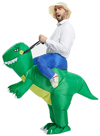 TOLOCO Inflatable Dinosaur T-REX Costume - Inflatable Costumes For Adults- Halloween Costume - Blow Up Costume