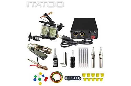 ITATOO Complete Tattoo Kit for Beginners Tattoo Power Supply Kit