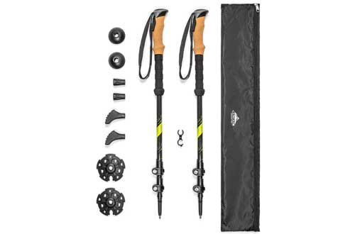 Trekking Poles with Cork Grip & Carry Case