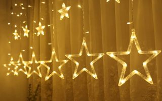 Twinkle Star 138 LED Curtain String Lights - Creative Christmas Window Lights