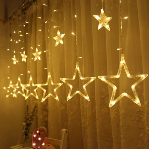 twinkle star 138 led curtain string lights creative christmas window lights