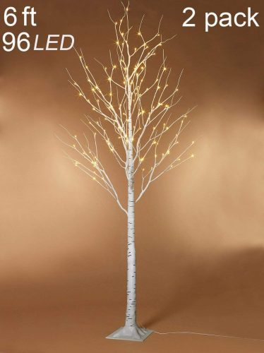 Twinkle Star 6 Feet 96 LED Lighted Birch Tree, LED Blossom Tree for Home Wedding Party Indoor Outdoor
