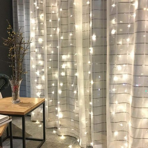 Twinkle Star Window Curtain String Light, A 300 LEDs Christmas Lights for Window