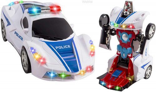 WolVol Transformers Police Car Toy -The Transformer!