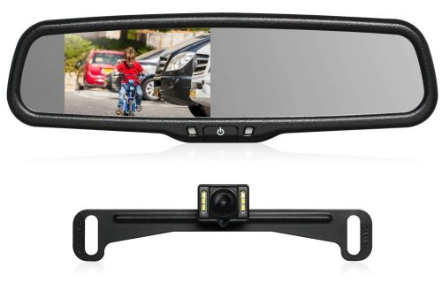 "AUTO-VOX T2 Backup Camera Kit 4.3"" LCD OEM Car Rearview Mirror Monitor"